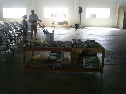 Peter Doig's studio in Trinidad. Image:www.atelierlog.blogspot.com