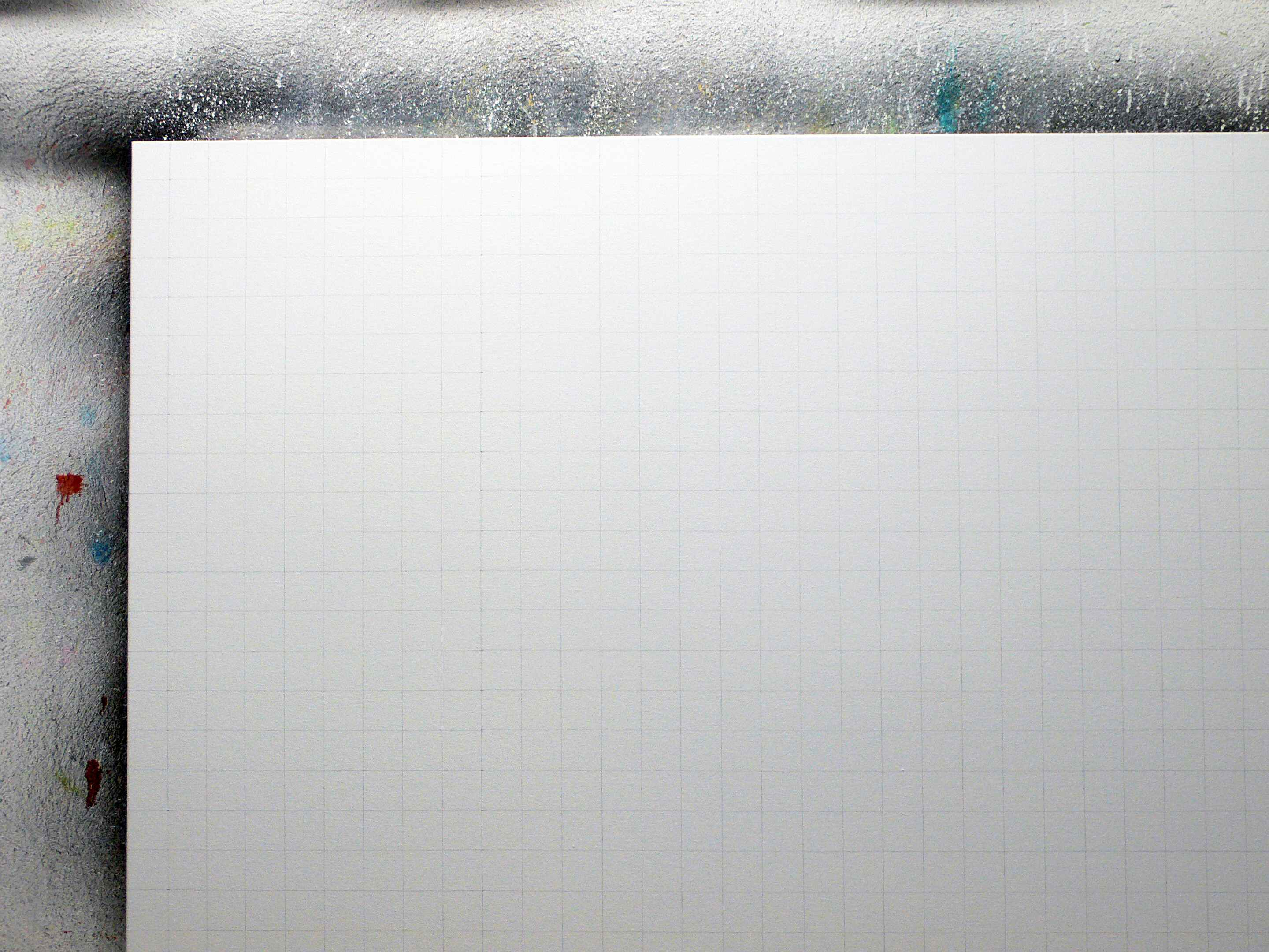 Gridded Canvas in my studio. Photo: Simon Zabell