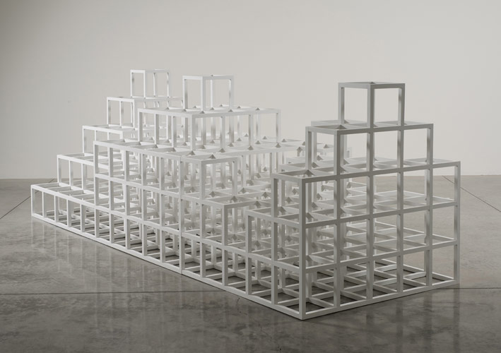 Sol LeWitt, Structure With Three Towers, 1986, Image:  www.lalouvre.com