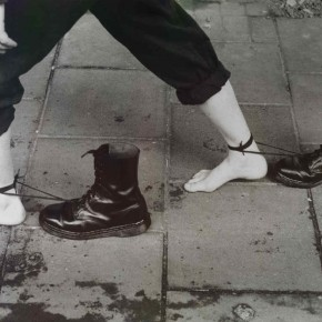 MONA HATOUM IS DRAGGING HER BOOTS