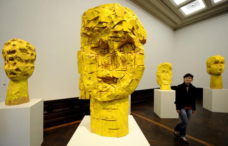 baselitz sculpture exhibition