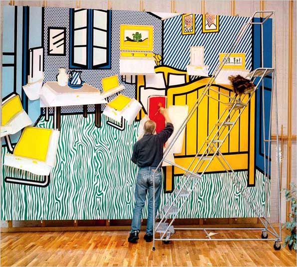 roy_lichtenstein_in_studio_painting