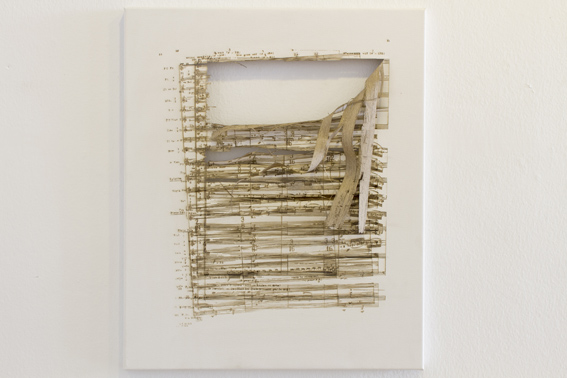 'Of Canyons and Stars', 2013 Laser cut canvas