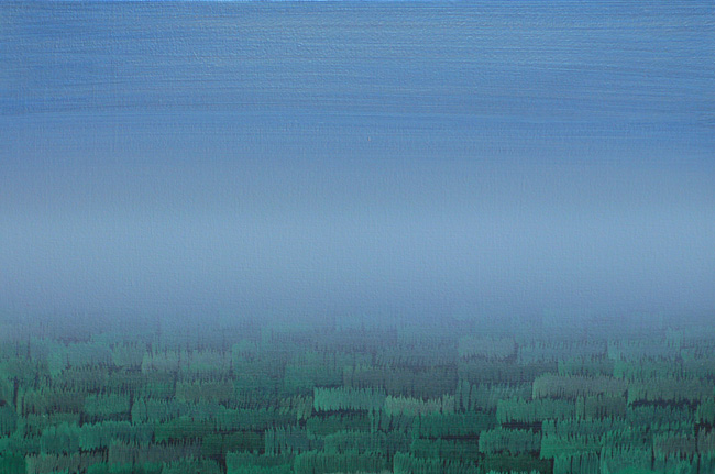 """The Silence Before Klavierstück IX"", 2009 Acrylic on canvas 15.7 x 23.6 inches (40 x 60 cm)"